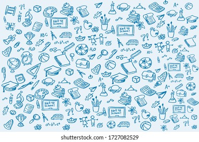 set of education background vector