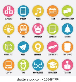 Set of education icons - part 2 - vector icons