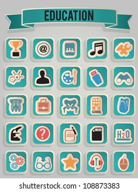 set of education icons - part 3 - vector icons