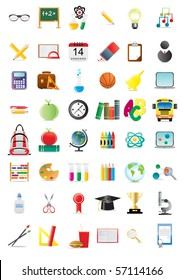 Set of education icons, vector illustration