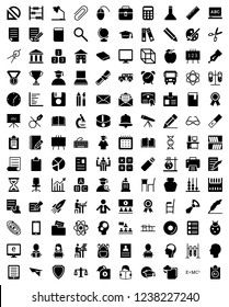 Set of Education and Knowledge Icon Solid Vector Icons.