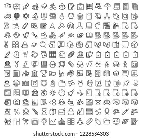 Set of Education line icons