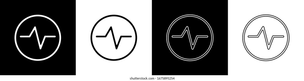Set Electric circuit scheme icon isolated on black and white background. Circuit board.  Vector Illustration