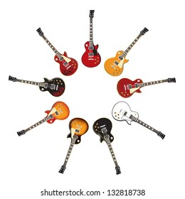 Set of Electric Guitars isolated