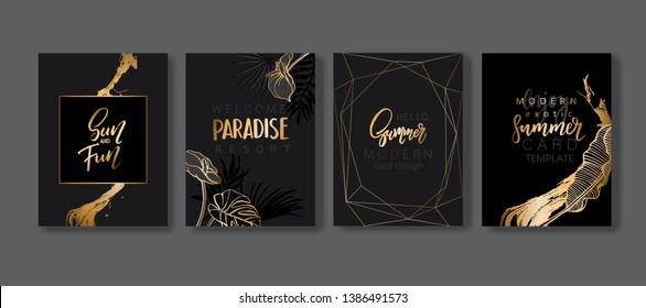 Visitenkarte Schwarz Gold Stockillustrationen Bilder Und