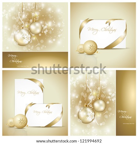 set of elegant christmas cards - Elegant Christmas Cards