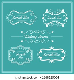 Set of elegant floral monogram design templates