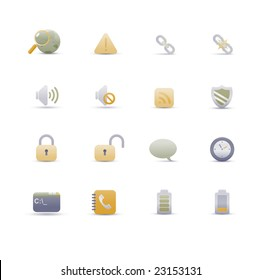 set of elegant simple icons for common computer functions