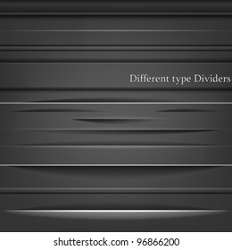 Set of the element dividers