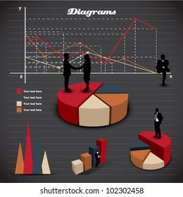 Set elements of infographic. Diagram