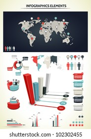 Set elements of infographic. World Map and Information Graphicsaphics.