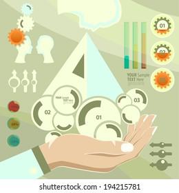 Set elements of infographics - Shutterstock ID 194215781