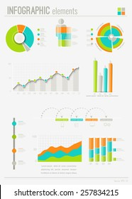 Set elements of infographics. Can be used for work flow layout,presentation, diagram, graph, timeline, chart, business step options. Vector illustration EPS10