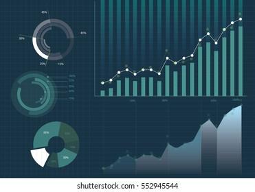 Définir des éléments d'infographie. Peut être utilisé pour la disposition du flux de travail, la présentation, le diagramme, le graphique, la chronologie, le graphique, les options d'étape métier.