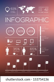 Set elements of infographics. Vector Illustration