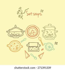 Set of elements - soups.
