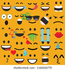 set of emoji,emoticons faces