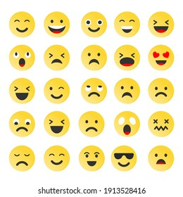 set of emoticon smile icons