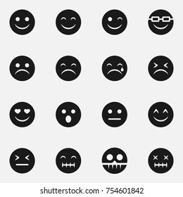 Set of emoticon vector icons.