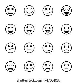 Set of emoticon vector isolated on white background. Emoji vector.