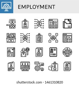 Set of employment icons such as Engeneering, Headhunting, Resume, Skill, Curriculum, Interview, Description, Role, Skills, Candidates , employment