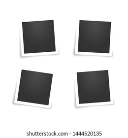 Set of empty photo frames. vector illustration on white background