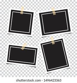 Set of empty photo frames. vector illustration