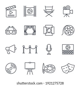 Set of Entertainment icon. Entertainment pack symbol template for graphic and web design collection logo vector illustration