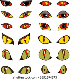 set of evil  eyes for the personage