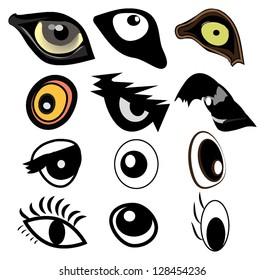 set of eyes vector
