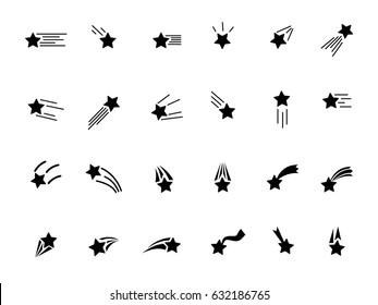 Set of falling stars icon