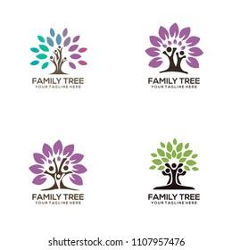 Set Family tree logo template