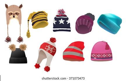 set of fancy realistic winter earflap hat 7e88e13a9b11