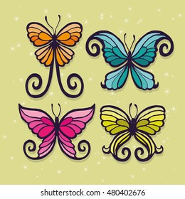 set of fantasy butterfly wings, photo booth props