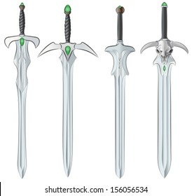 set of fantasy swords