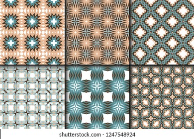 Set of Fashion Zigzag Pattern. Vector Background. For Scrapbooking Design, Printing, Wallpaper, Decor, Fabric, Invitation