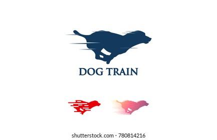 Set of Fast jumping dog logo vector, Dog Training logo template designs, Dog logo designs Template