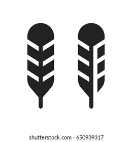 Set of feather icons. Vector