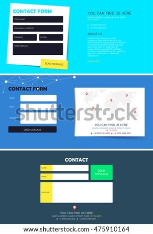 Set Feedback Form Website Stock Vector Royalty Free 475910164