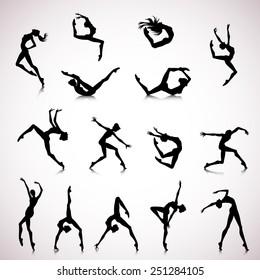 Jazz Dancer Silhouette Images Stock Photos Vectors Shutterstock