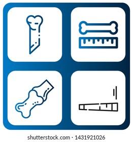 Set of femur icons such as Bone, Joint , femur