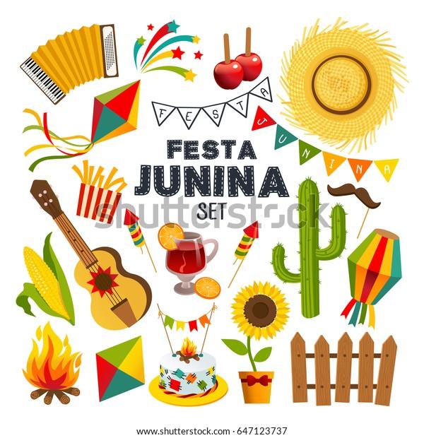 Festa Junina Brasilianisches Juni Festival Party Stock