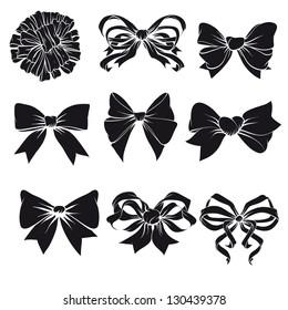 Set of festive bows