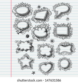 Set of festive doodle bubbles (banners)