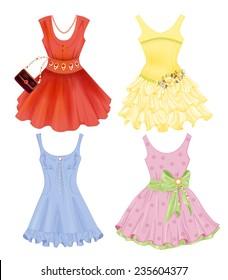 set of festive dresses for girls