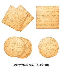 Set of few different Jewish breads: Matzo