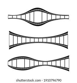 Set of film elements for cinematography vector illustration