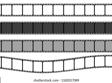 Set of film strip frame, vector template illustration