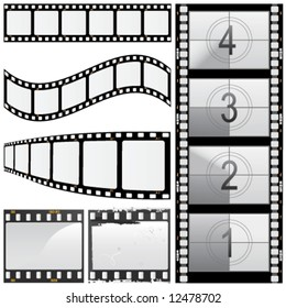 set of film vector