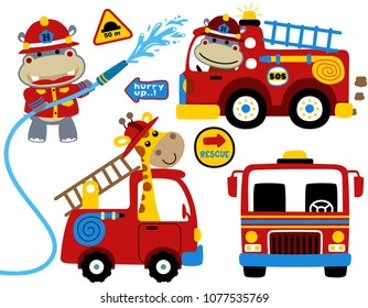 57da9969a12 Cartoon Fire Truck Images, Stock Photos & Vectors | Shutterstock
